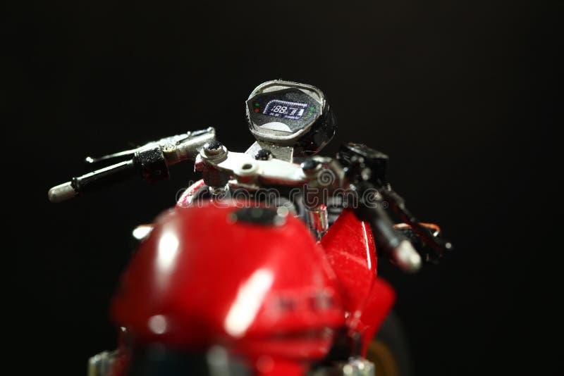 Scena di modello del motociclo immagini stock libere da diritti