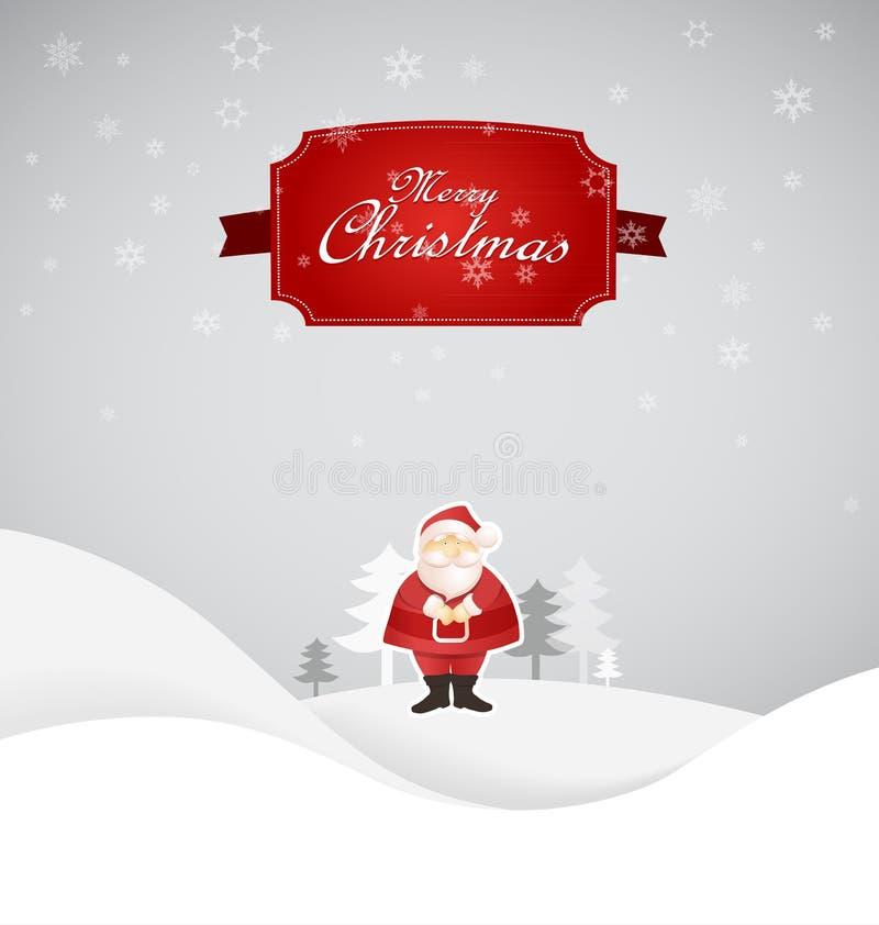 Scena di Natale di inverno con il posto per il vostro testo. illustrazione vettoriale