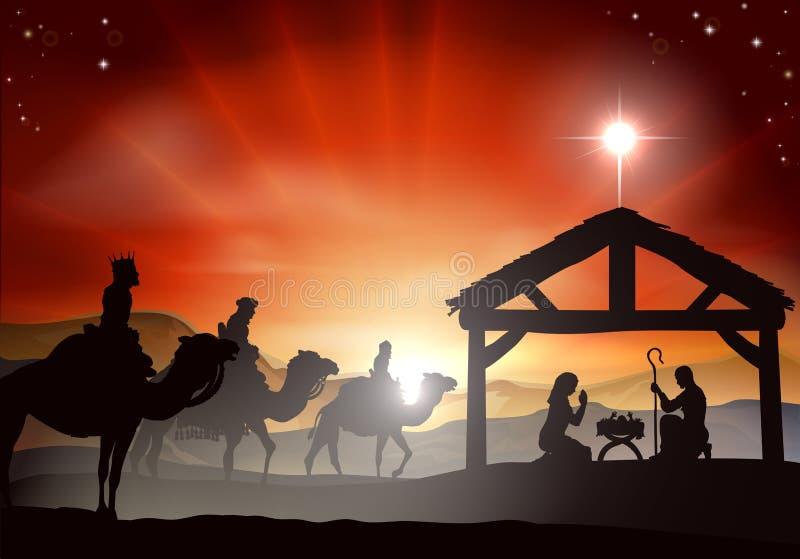 Scena di natività di Natale illustrazione vettoriale