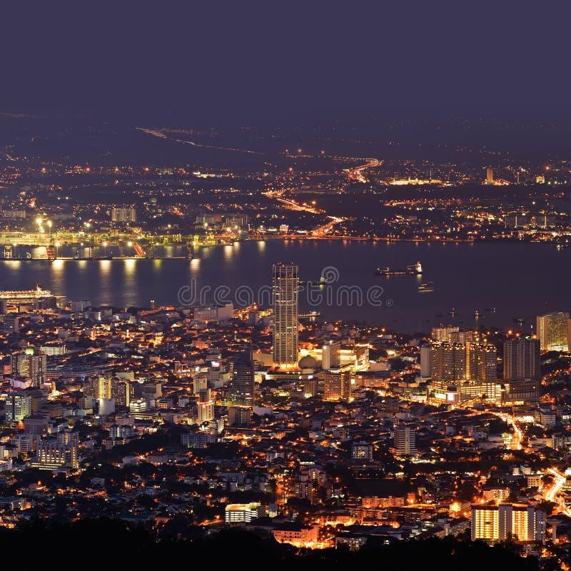 Scena di notte della città fotografie stock libere da diritti