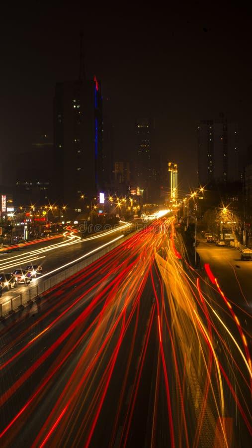 Scena di notte della città immagine stock