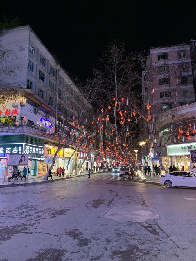 Scena di notte della città della Cina immagini stock