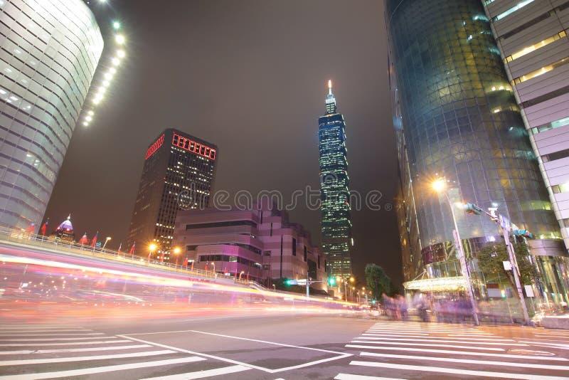 Scena di notte della città di Taipeh immagine stock libera da diritti