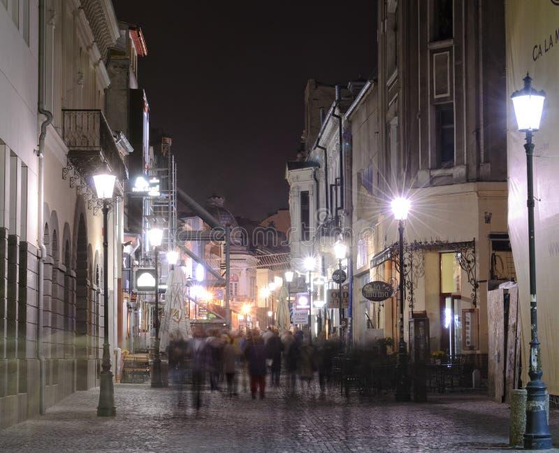 Scena di notte di Bucarest fotografie stock