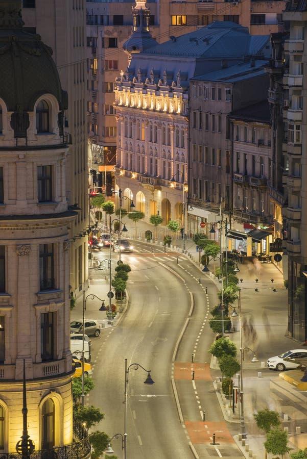 Scena di notte di Bucarest fotografia stock libera da diritti