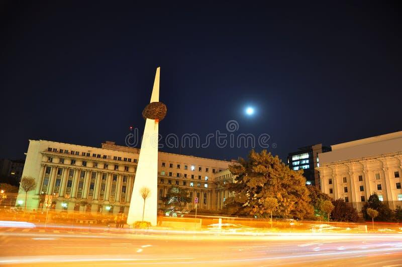 Scena di notte di Bucarest fotografia stock