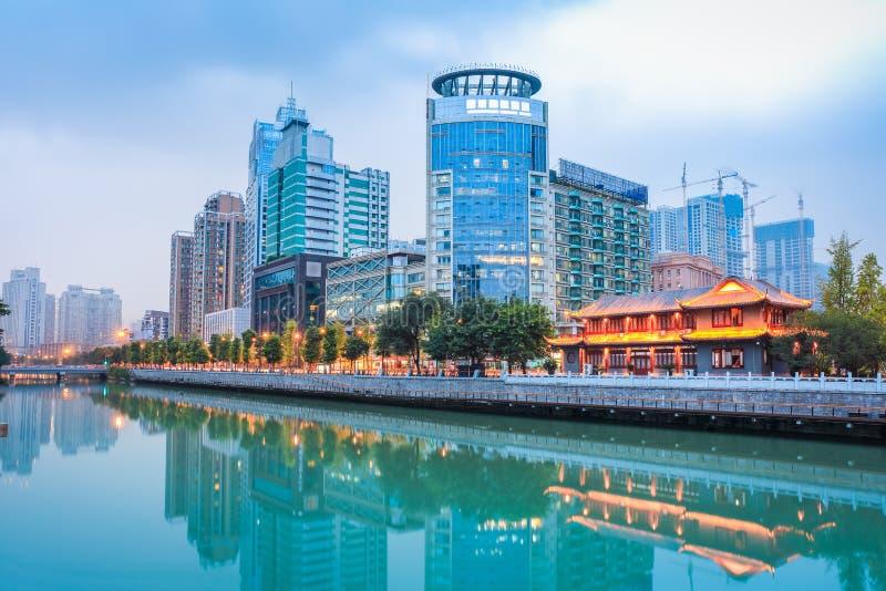 Scena di notte di Chengdu immagine stock libera da diritti