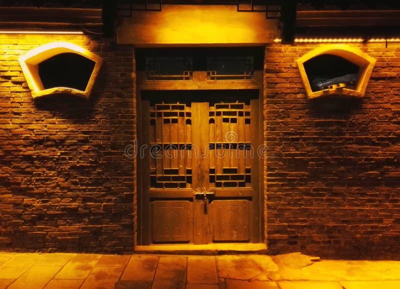 Scena di notte di Zhenyuan, città antica della porcellana fotografia stock