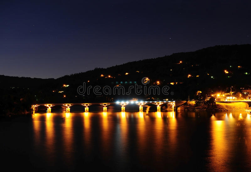 Scena di notte, Geres, Portogallo fotografie stock