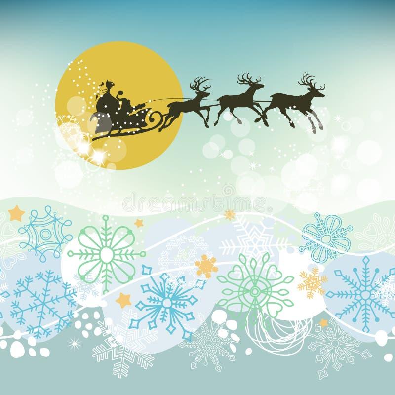 Scena di notte di Natale royalty illustrazione gratis