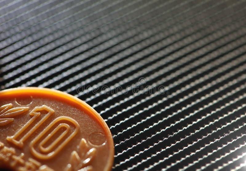 Scena di plastica della moneta immagini stock libere da diritti