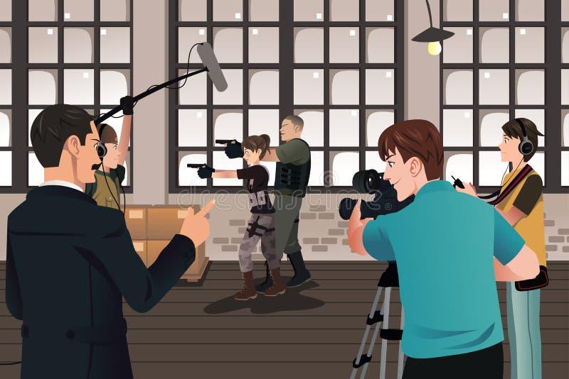 Scena di produzione di film illustrazione vettoriale