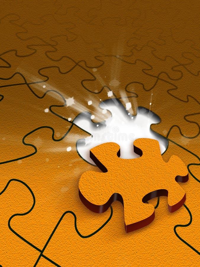 Scena di puzzle illustrazione vettoriale