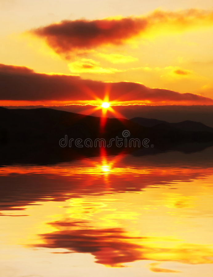 Scena di tramonto fotografie stock libere da diritti