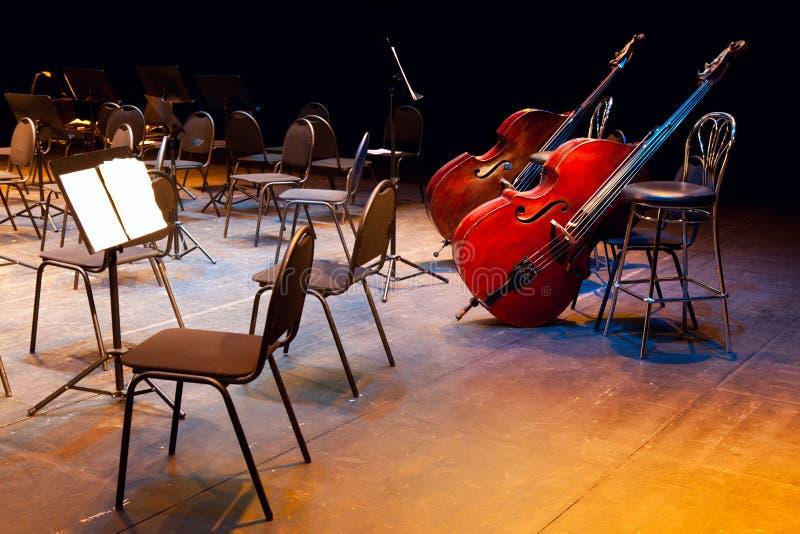 Scena di una sala da concerto fotografia stock libera da diritti