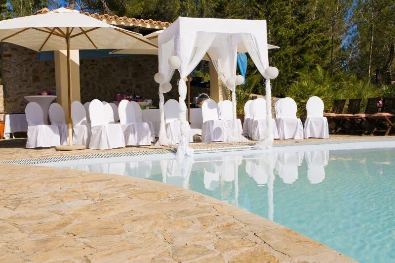 Scena esterna di cerimonia nuziale fotografia stock
