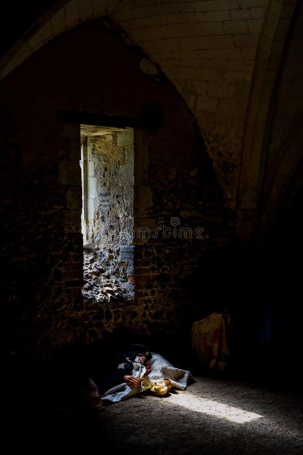 Scena interna della proprietà terriera del tempio a Rochester, Risonanza, Inghilterra immagine stock