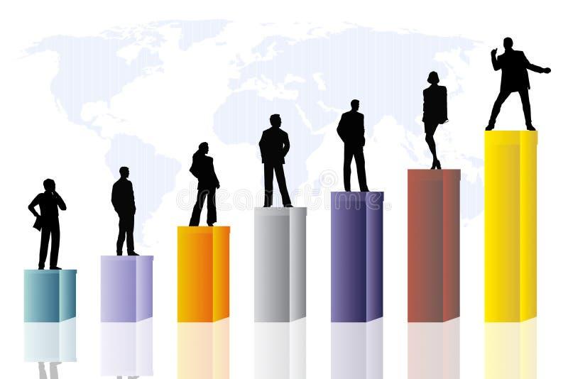 scena konceptualna jednostek gospodarczych royalty ilustracja