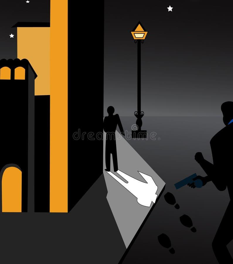 Scena kryminalny cyzelatorstwo jego ofiara ilustracja wektor