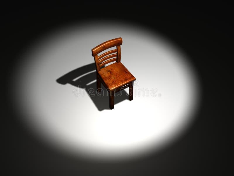 scena krzesło ilustracja wektor