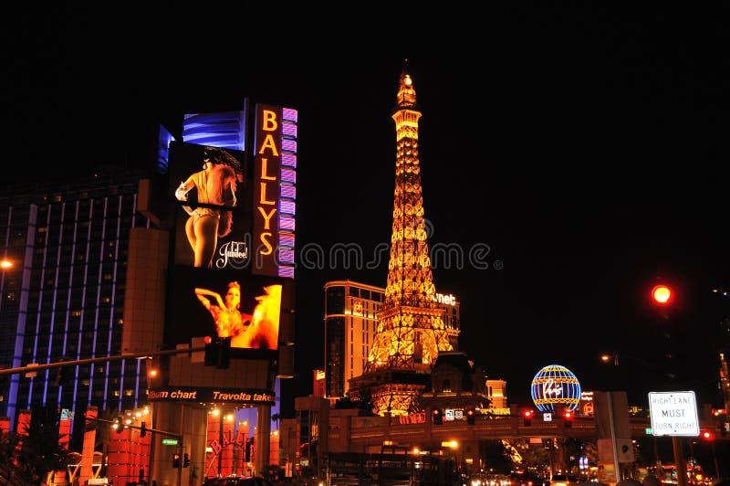 Scena Las Vegas di notte immagine stock libera da diritti