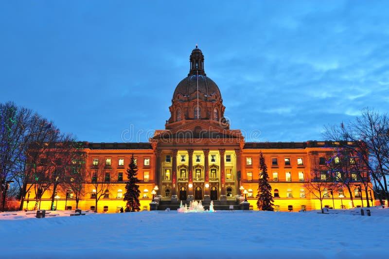 Scena legislativa di notte della costruzione fotografia stock libera da diritti