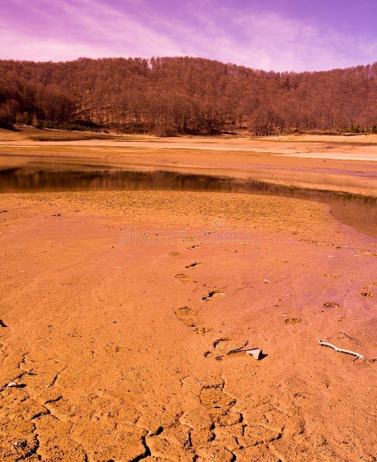 scena mavrovo pustynna lake obrazy stock