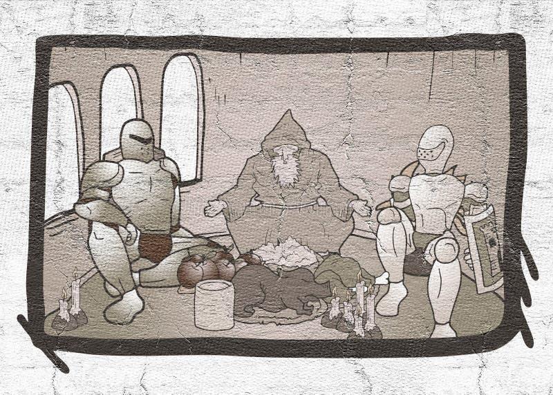 Scena medievale royalty illustrazione gratis