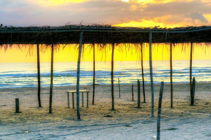 Scena messicana della spiaggia fotografie stock libere da diritti