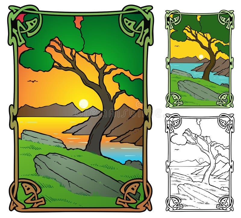 Scena mistica royalty illustrazione gratis