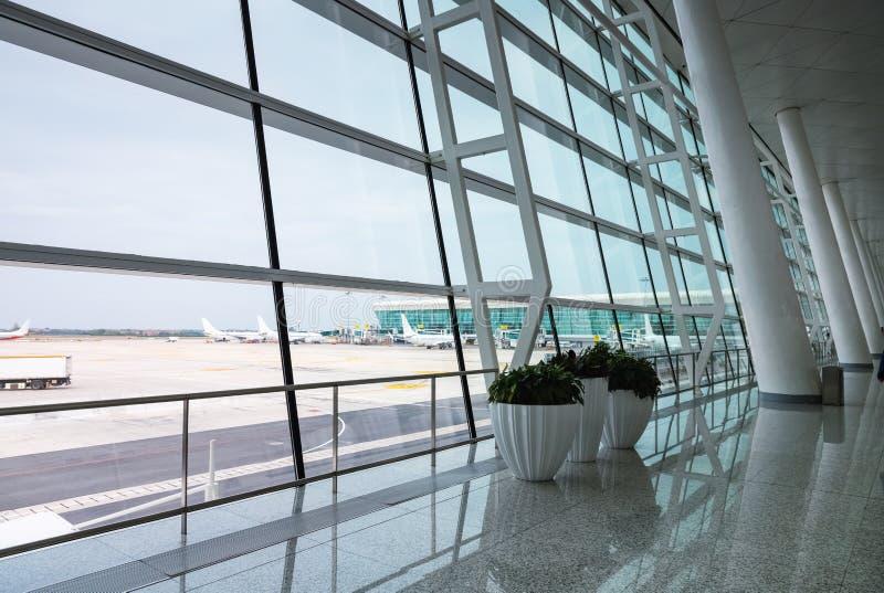 Scena moderna dell'aeroporto fotografia stock