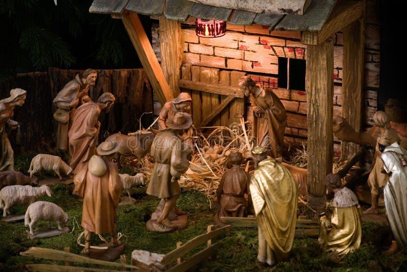 scena narodzenie jezusa obrazy royalty free