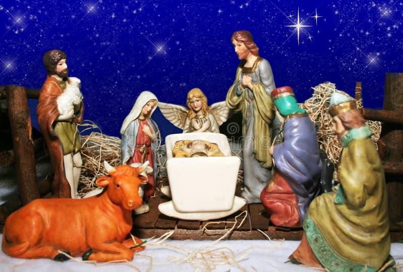 scena narodzenie jezusa fotografia stock