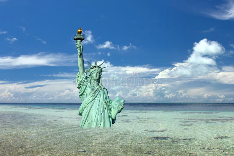 Scena nucleare di apocalisse di New York Post fotografie stock libere da diritti