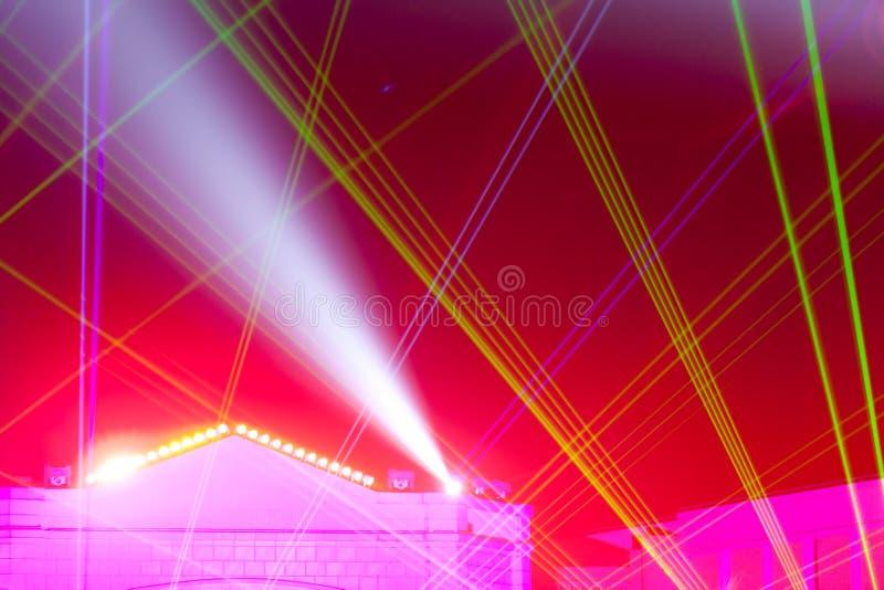 Scena oświetleniowi skutki zdjęcia stock