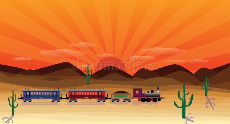 Scena occidentale illustrazione vettoriale