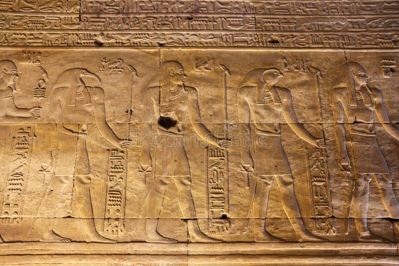 Scena od Edfu świątyni w Edfu, Egipt fotografia stock