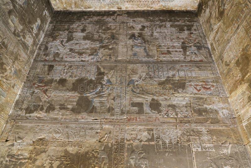 Scena od Edfu świątyni w Edfu, Egipt zdjęcia stock