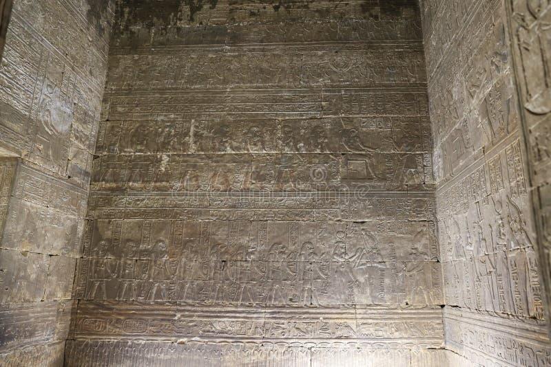 Scena od Edfu świątyni w Edfu, Egipt obrazy stock