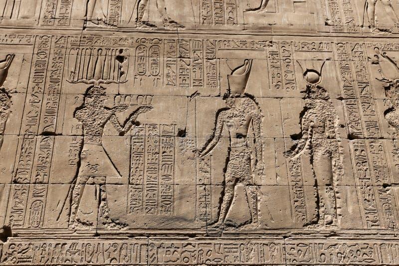 Scena od Edfu świątyni w Edfu, Egipt zdjęcie royalty free