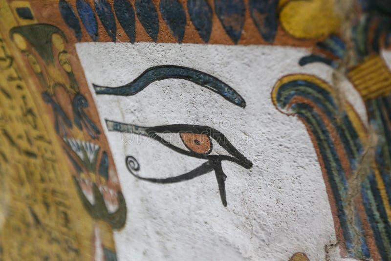 Scena od grobowa w Deir Medina wiosce, Luxor, Egipt obrazy stock