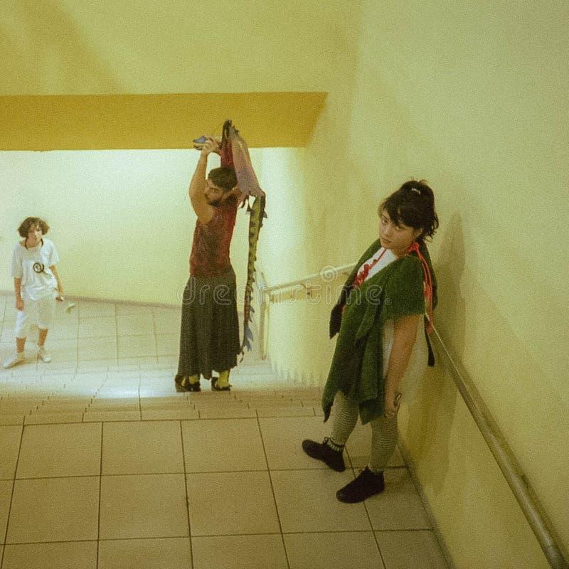 Scena od Ubu Roi Alfred Jarry, Miami - zdjęcia stock