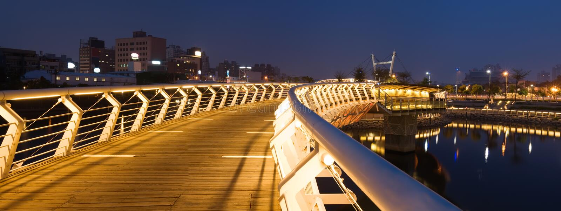 Scena panoramica di notte fotografie stock