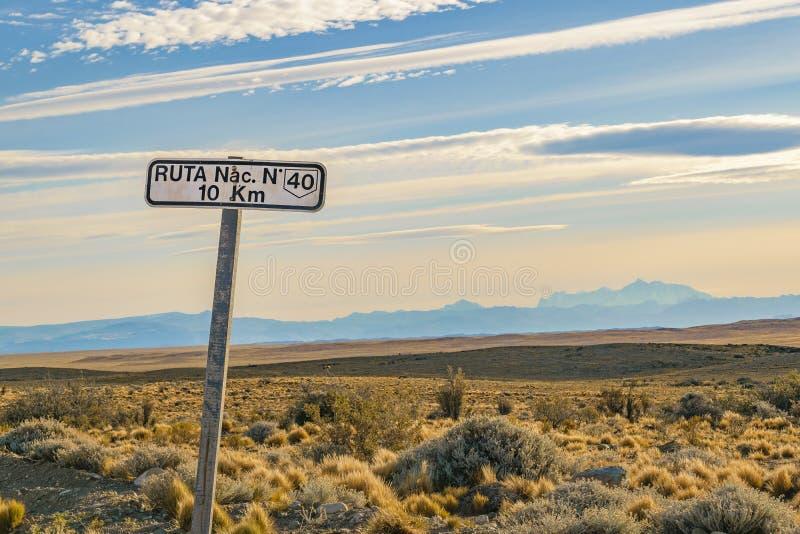 Scena patagonian del paesaggio, Argentina immagini stock