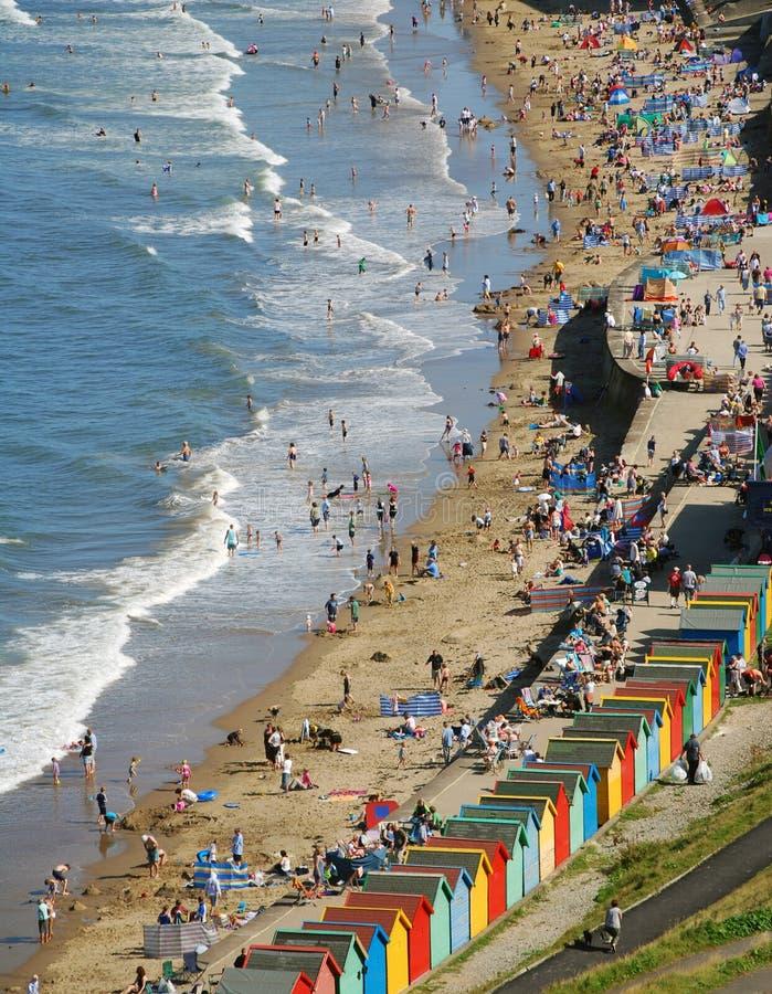 scena plażowa whitby obrazy stock
