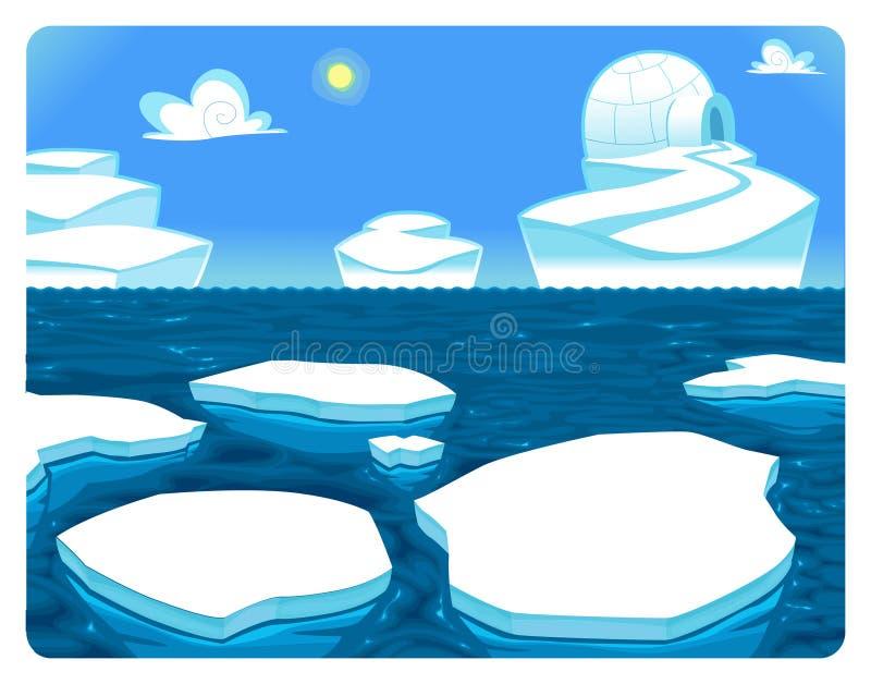 Scena polare. illustrazione vettoriale