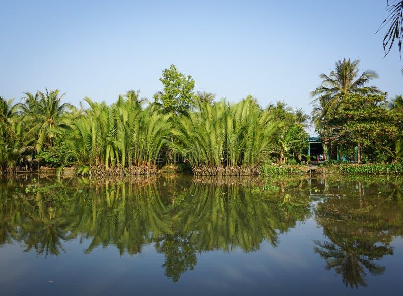 scena rurale con il fiume in sadek vietnam immagine stock. Black Bedroom Furniture Sets. Home Design Ideas