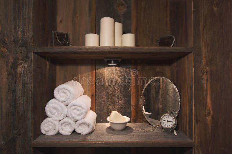 Scena rustica della stazione termale fotografie stock libere da diritti