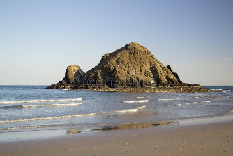 Scena soleggiata della spiaggia fotografia stock