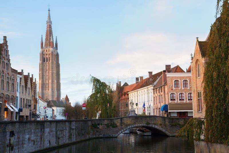 Scena stary miasteczko, Bruges zdjęcie stock